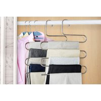 £4.50 instead of £17.51 (from Paperdollz Trading) for a stainless steel trouser hanger, £8.99 for two hangers, £14.99 for four hangers and £19.99 for six - save up to 74% - Storage Gifts