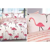 £7.99 instead of £33 (from NotInStore) for a single flamingo duvet set, or £11.99 for a double duvet, or £13.99 for a king flamingo duvet set – choose from three designs and save up to 76% - Duvet Gifts