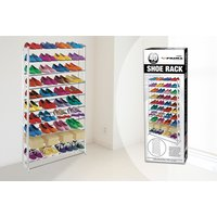 £8.99 instead of £29.99 for a 10-tier freestanding shoe rack from Direct2Public Ltd - save 70% - Storage Gifts