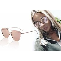 £8 instead of £19.96 (from AJ Voyage) for a pair of cat eye vintage aviator rose gold sunglasses - save 60% - Fashion Gifts