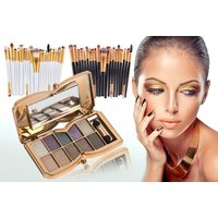 £6 instead of £69.98 for a 20pc eye makeup brush set and 10 colour butterfly eye shadow palette from Forever Cosmetics - save up to 91% - Makeup Gifts