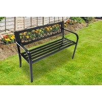 a black metal garden bench from ViVo Technologies  save 61%