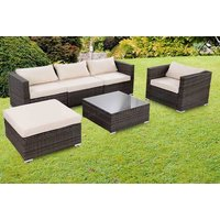 £449 instead of £970 (from FDS) for a four-piece durable polyrattan garden furniture set with cushions – choose from two colours and save 54% - Cushions Gifts