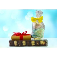 £16 for a luxury pamper hamper including a 300g golden box of assorted truffles, eight Belgian chocolate duck truffles and four home-crafted bath bombs from Chocolish London - Pamper Gifts