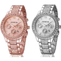 £12 instead of £49 for a crystal Geneva Freya watch from Solo Act Ltd - save 76% - Watch Gifts