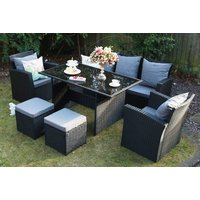From £499 instead of £970 (from Dreams Outdoors) for a black polyrattan furniture set - choose from two sizes with an optional rain cover and save up to 49% - Outdoors Gifts