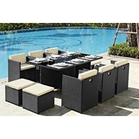 11-piece rattan garden furniture set - choose between four colours and save 69%
