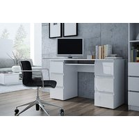 a Moderno white gloss computer desk - save 73%