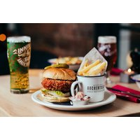 £15 instead of £35 for a burger and fries, a salad or a hot dog and schooner of beer or glass of wine each for two people, £19 to include a cocktail, or from £24 for steak with chips and a side at Innis & Gunn - choose from Glasgow, Edinburgh and Dund - Edinburgh Gifts