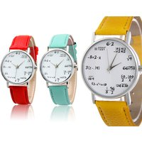 £6.99 instead of £19.99 (from Magic Trend) for a maths equation watch - choose from nine colours and save 65% - Maths Gifts