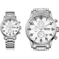 £129 instead of £346 (from The Best Watch Company) for a Hugo Boss Aeroliner stainless steel chronograph watch – save 63% - Hugo Boss Gifts