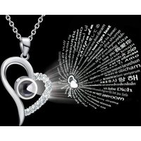 £7.99 instead of £19.99 (from Litnfleek) for a 100 languages 'I love you' necklace - choose from three designs and two colours and save 60% - Languages Gifts