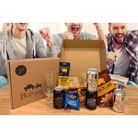 £19 instead of £34.98 for a Father's Day 'Dad Box' hamper featuring four cans of beer, salted peanuts, snacking salami, crisps, crackling and a beer and ale craft glass from BoroughBox - save 46% - Hampers Gifts