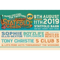 From £9 instead of £15.60 for a one-day ticket for one person to Statfold Barn Festival, £59 for a one-day ticket for a family of four, or from £19 for a weekend ticket - save up to 42% - Concerts Gifts