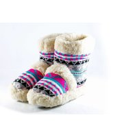 £4 for a pair of sheepskin ankle boot slippers from Deals Direct - choose between UK sizes 5-7! - Slippers Gifts