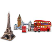 £3.99 for a 3D jigsaw puzzle from Deals Direct - choose between the Eiffel Tower and London Tour sets! - Jigsaw Gifts