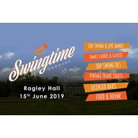 £5 for a child ticket to the Swingtime in the Gardens family vintage festival at Ragley Hall on Saturday 15th June, £19 for an adult ticket, or £39 for a family ticket - save up to 41% - Concerts Gifts