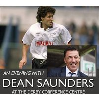 £19 instead of £42.70 for a standard ticket to An Evening with Dean Saunders including dinner and comedy on 7th June at The Derby Conference Centre, Derby – save 56% - Laughing Gifts