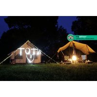 From £109 (at Top of the Woods Eco Camp) for a two-night glamping stay for up to four with a bottle of Prosecco, or from £159 for three nights - save up to 32% - Eco Gifts