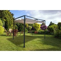£179 (from Garden & Camping) for a Manhattan metal gazebo with a retractable canopy - Camping Gifts