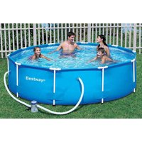 £69 instead of £174.01 (from Eurotrade Ltd) for a 10-foot Bestway steel frame swimming pool or £109 for a 12-foot pool with pump - save up to 63% - Pool Gifts