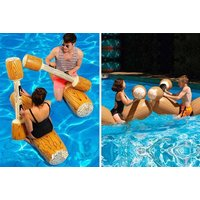 £19 instead of £49.99 (from Lit n Fleek) for two inflatable log battleship boats with paddles - save 62% - Boats Gifts