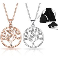 £7.99 instead of £17.99 for a Philip Jones tree of life necklace made with with crystals from Swarovski® from Silver Supermarket Ltd - save 56% - Fashion Gifts