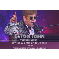 £29 instead of £60 for entry to an Elton John tribute night with arrival drink and two-course dining on 22nd Jun 2019 at Birmingham Botanical Gardens - save 52% - Dining Gifts