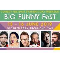 £30 instead of £37.26 a day ticket to Big Funny Fest at the Old Deer Park Richmond, £59 for a weekend ticket - save up to 19% - Concerts Gifts