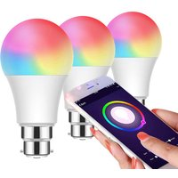 Image of £12.99 instead of £27 (from Ener-J) for one B22 WiFi smart LED bulb, £24.99 for two or £32.99 for three - save up to 52%