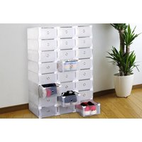 £9.99 instead of £27.01 (from Paperdollz Trading) for a set of eight shoe organiser boxes - save 63%