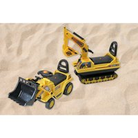 Image of £19.99 instead of £83.30 (from Who Needs Shops) for a children's push along mini yellow digger or £24.99 for a bulldozer digger - save up to 76%