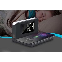 Image of £15.99 instead of £69.99 (from Litnfleek) for a 3-in-1 alarm clock, night light and wireless charger - save 77%