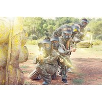Image of £9 instead of £215 for a paintballing day for ten people including 100 paintballs and a light lunch each at Bristol Activity Centre – choose from two locations and save 96%