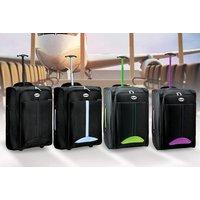 'Cabin-approved Wheelie Hand Luggage - Black   Wowcher