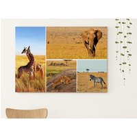 £10.95 (from Colour House) for an A2 collage canvas or £10.95 for an A1 collage canvas
