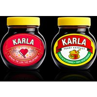 £10 (from Gift Star) for a personalised Marmite jar
