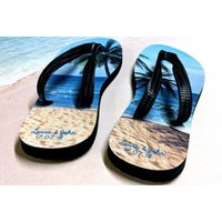 £11.99 instead of £49.99 for a pair of personalised flip flops from Gallery SI Limited t/a Colour House - save 76%