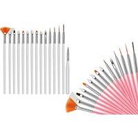 15pc Nail Art Manicure Brush Set