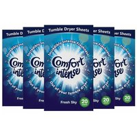 £11.98 instead of £24.99 for a 5pk comfort tumble dryer sheets - 20 washes each! from Avant-Garde Brands Ltd - save 52%