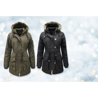 '£4.99 For A Ladies' Military Style Parka Jacket - Choose From Two Colours!
