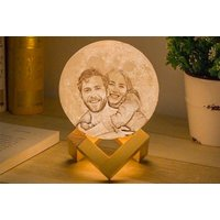 Personalised Moon Lamp with Text & Photo!