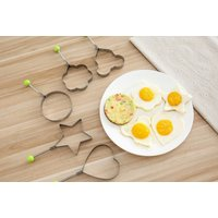 Image of 5pc Set Stainless Steel Fried Egg Moulds | Wowcher