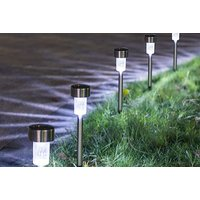 Image of 10 or 20 Stainless Steel Solar LED Garden Lights – 3 Colours! | Wowcher