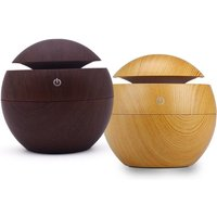 Image of £6.99 instead of £39.99 (from Arther Gold) for a USB wood grain-effect humidifier - choose from two colours and save 83%