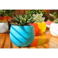 Round Planter  Blue, Green, Rose Red, White or Yellow!