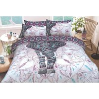 £11.99 for a single elephant mandala duvet cover set, £15.99 for a double bedding set, £17.99 for a king size bedding set or £19.99 for a super king size set from Five Minutes More!