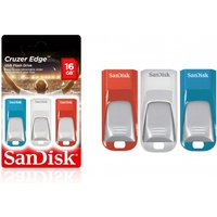 £14.99 for a three pack of 16GB Sandisk Cruzer edge USB flash drives from Avant-Garde!