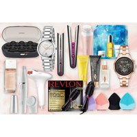 Image of £9.99 for a mystery beauty deal from HCI - Revlon, Gucci, Charlotte Tilbury, Braun and more!