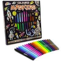 20Piece Coloured & Metallic Marker Pen Set